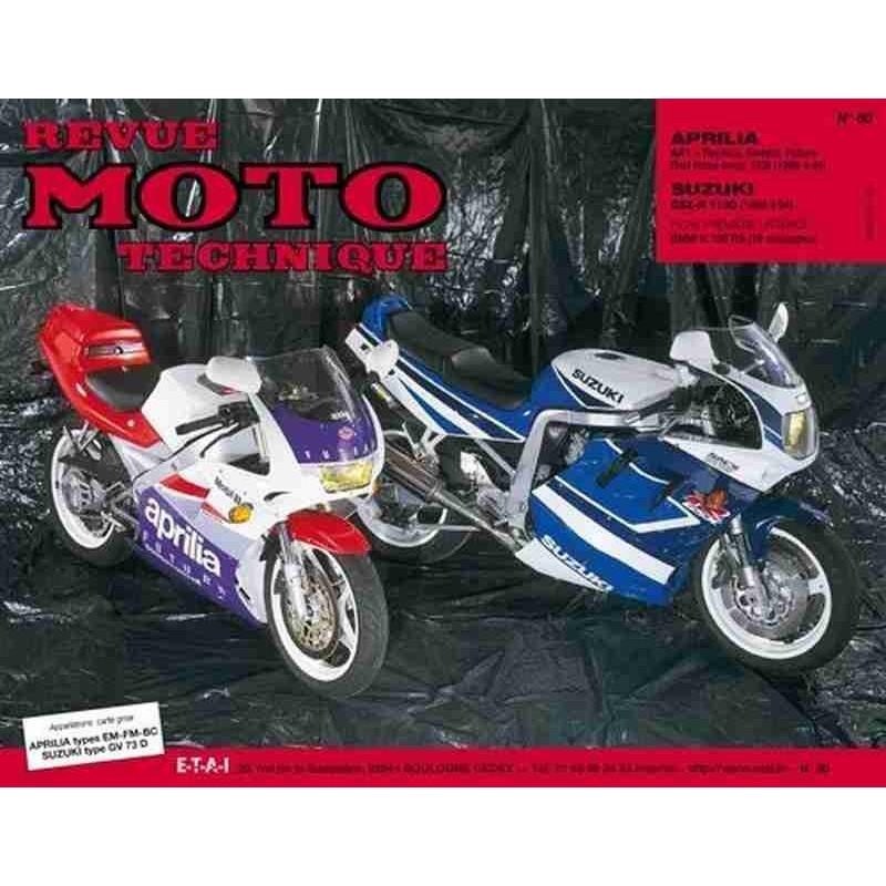 REVUE MOTO TECHNIQUE APRILIA 125 de 1989 à 1991 - RMT 80 Librairie Automobile SPE 9782726891018