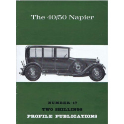 The 40/50 Napier / Profile publications n°17 Librairie Automobile SPE PP17