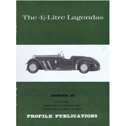 The 4 1/2-litre Lagondas / Profile publications n°29 Librairie Automobile SPE PP29