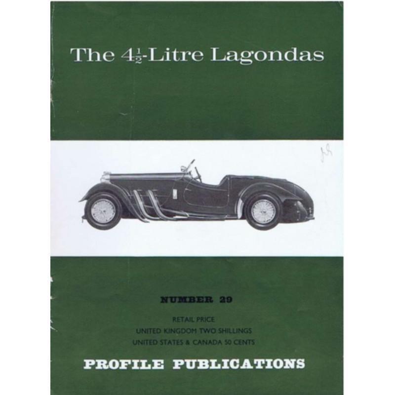 The 4 1/2-litre Lagondas / Profile publications n°29 Librairie Automobile SPE PP29