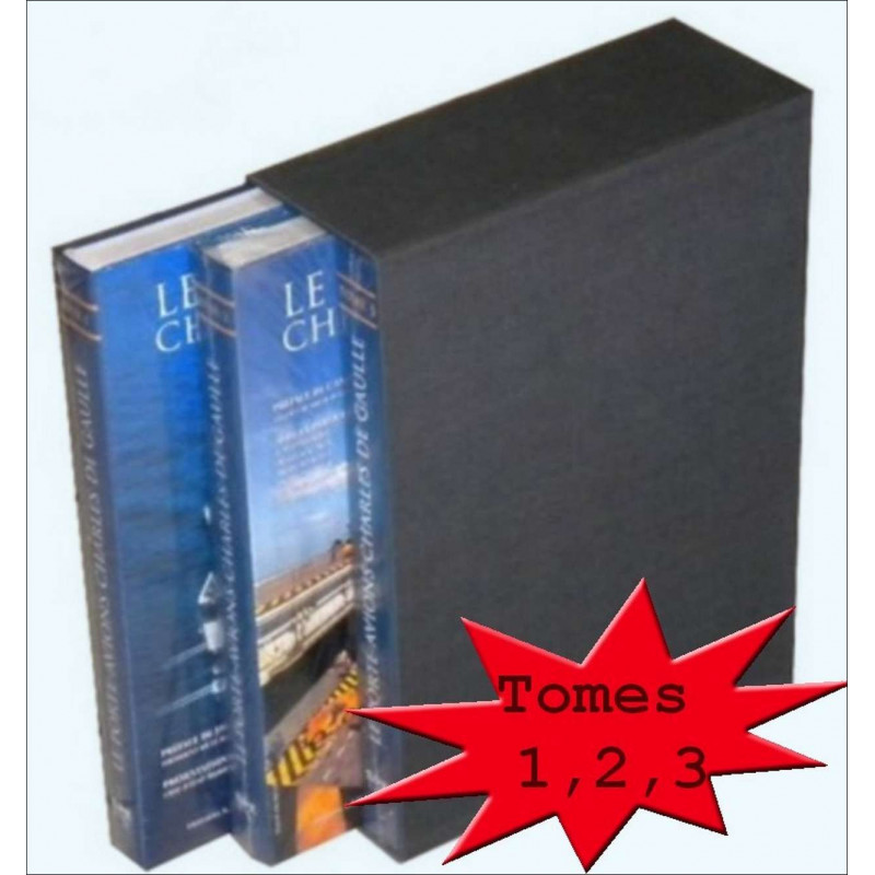 L'ENCYCLOPÉDIE DU PORTE AVIONS CHARLES DE GAULLE - (COFFRET 3 VOLUMES ) Edition SPE Barthelemy Librairie Automobile SPE 97829...