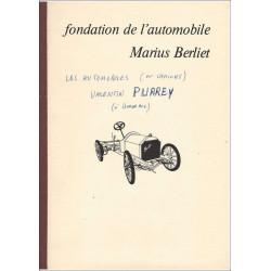 VALENTIN PURREY - FONDATION DE L'AUTOMOBILE MARIUS BERLIET Librairie Automobile SPE BERLIET Purrey