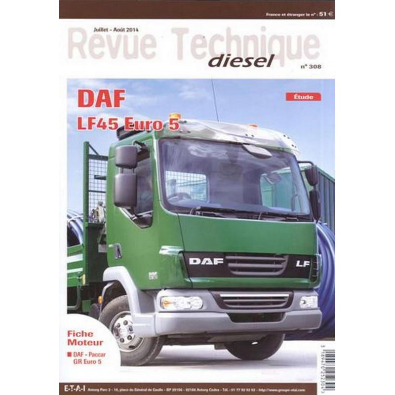 REVUE TECHNIQUE DAF LF45 EURO5 - RTD 308
