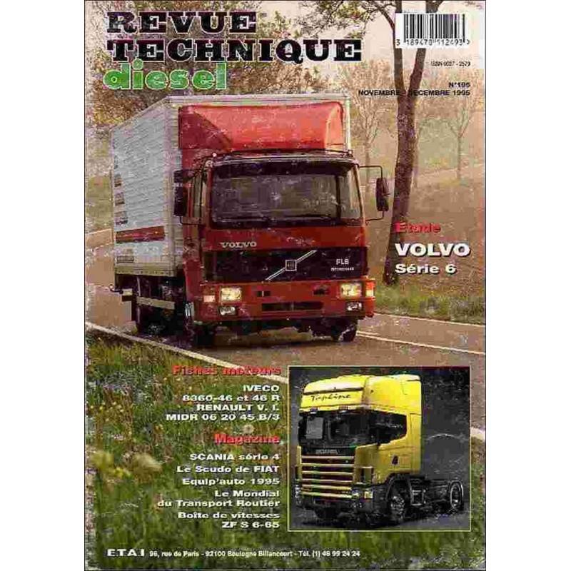 REVUE TECHNIQUE VOLVO SERIE 6 - RTD 196 Librairie Automobile SPE RTD196