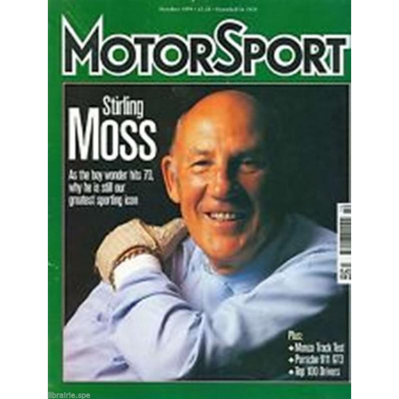 MOTORSPORT - STIRLING MOSS ( OCTOBER 1999) Librairie Automobile SPE MOTORSPORT - STIRLING MOSS