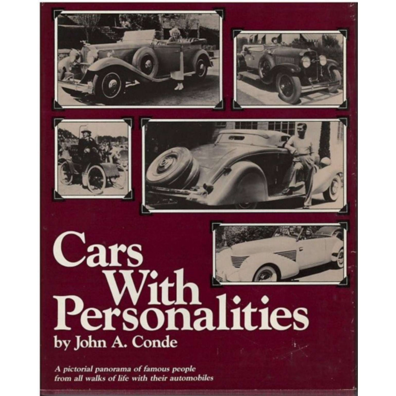 CARS WITH PERSONALITIES by John A. Conde Librairie Automobile SPE CARS WITH