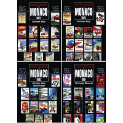 Grand prix automobile de Monaco 4 tomes Edition SPE Barthelemy Librairie Automobile SPE 9782912838667