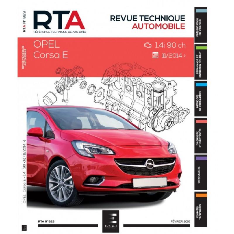 REVUE TECHNIQUE OPEL CORSA V Depuis 2014 - RTA 823 Librairie Automobile SPE 9791028306205