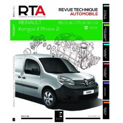 REVUE TECHNIQUE RENAULT KANGOO 2 PHASE 2 Depuis 2013 - RTA 821 Librairie Automobile SPE 9791028306168