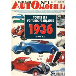 AUTOMOBILIA HORS-SERIE N°1 TOUTES LES VOITURES FRANCAISES 1936 SALON 1935 Librairie Automobile SPE