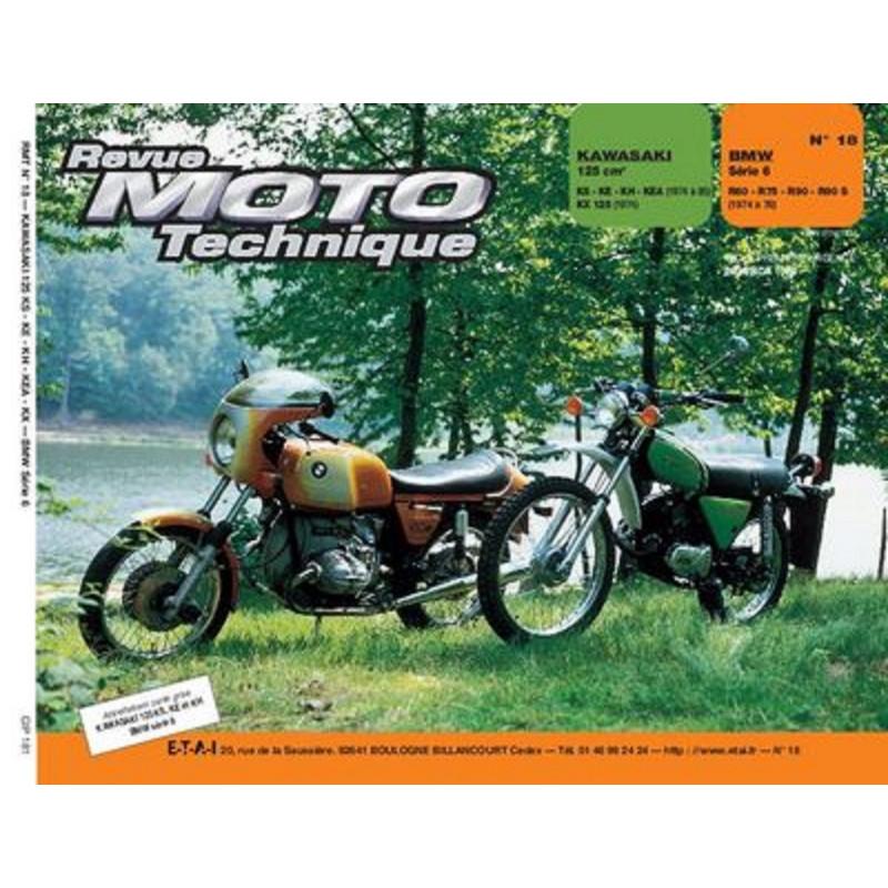 REVUE MOTO TECHNIQUE BMW SERIE 6 , R60/6 et R90/6 de 1974 à 1976 - RMT 18 Librairie Automobile SPE 9782726890134