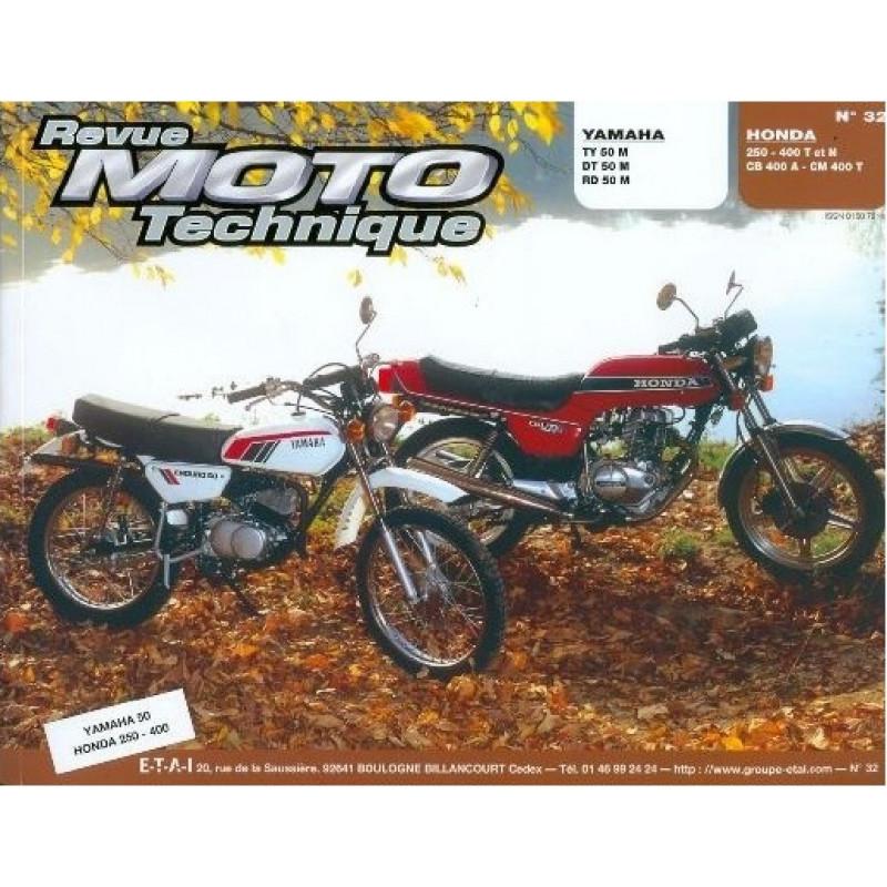 REVUE MOTO TECHNIQUE HONDA 250 et 400 T/N et CB/CM 400 - RMT 32 Librairie Automobile SPE 9782726890257