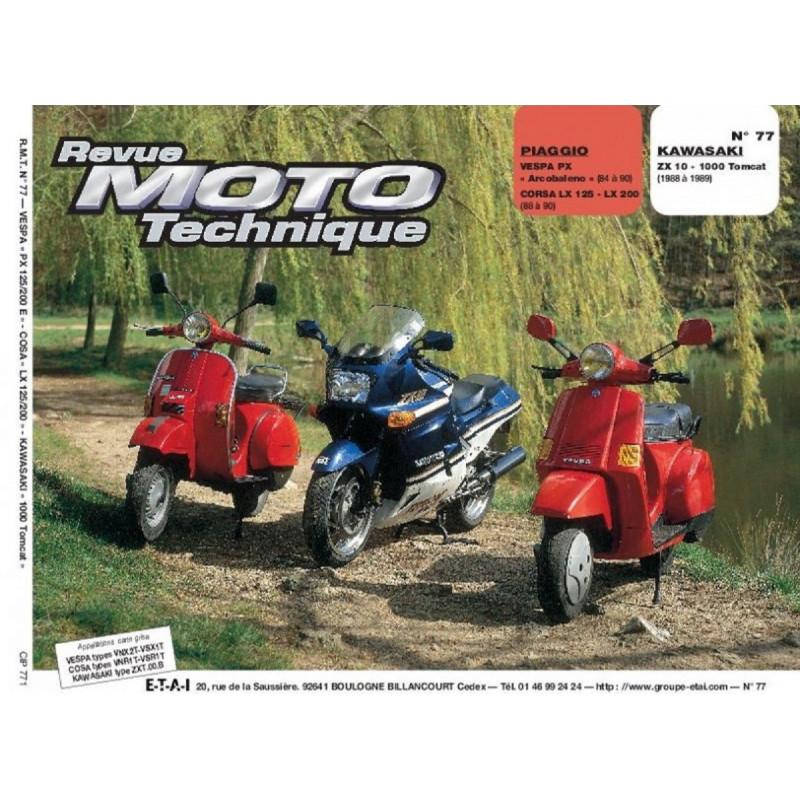REVUE MOTO TECHNIQUE KAWASAKI ZX 10 1000 TOMCAT de 1988 et 1989 - RMT 77 Librairie Automobile SPE 9782726890714
