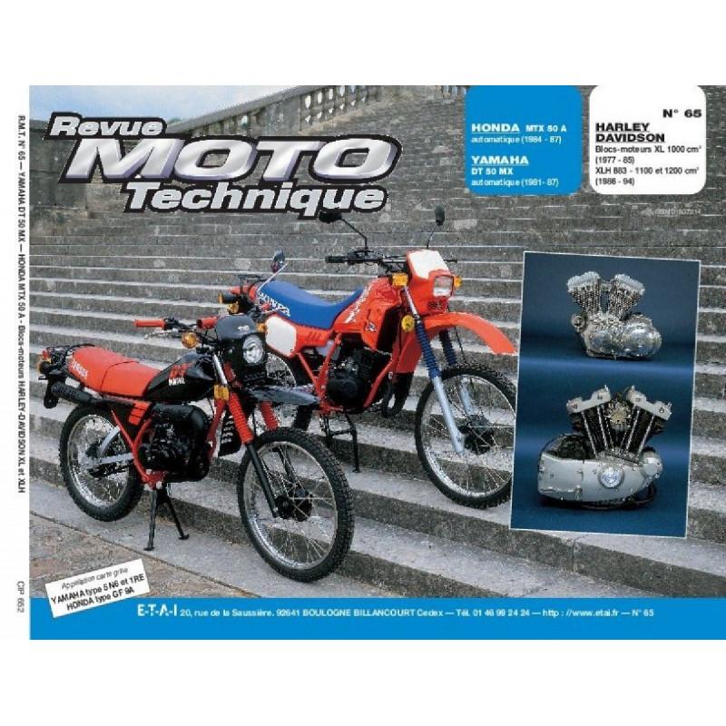 REVUE MOTO TECHNIQUE HARLEY-DAVIDSON XL de 77 à 89 et XLH de 86 à 94 - RMT 65 Librairie Automobile SPE 9782726890882