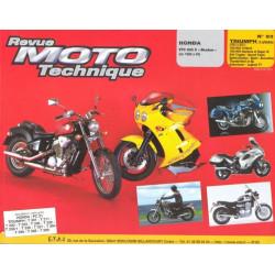REVUE MOTO TECHNIQUE TRIUMPH 3 CYLINDRES de 1995 à 2001 - RMT 93 Librairie Automobile SPE 9782726890912