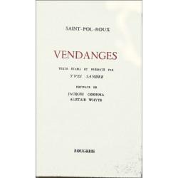 VENDANGES de SAINT-POL-ROUX Librairie Automobile SPE 9782856682500