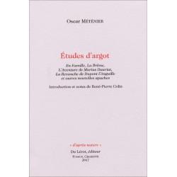 Etudes d'argot : En Famille, La Brême, L'Aventure de Marius Dauriat Librairie Automobile SPE 9782355481253