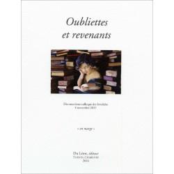 Oubliettes et revenants Dix-neuvième colloque des Invalides, 6 novembre 2015 Librairie Automobile SPE 9782355481147
