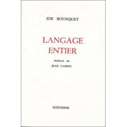 LANGAGE ENTIER de JOE BOUSQUET Librairie Automobile SPE LANGAGE