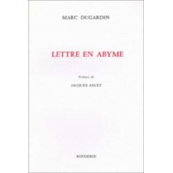 LETTRE EN ABYME de MARC DUGARDIN Librairie Automobile SPE 9782856683903