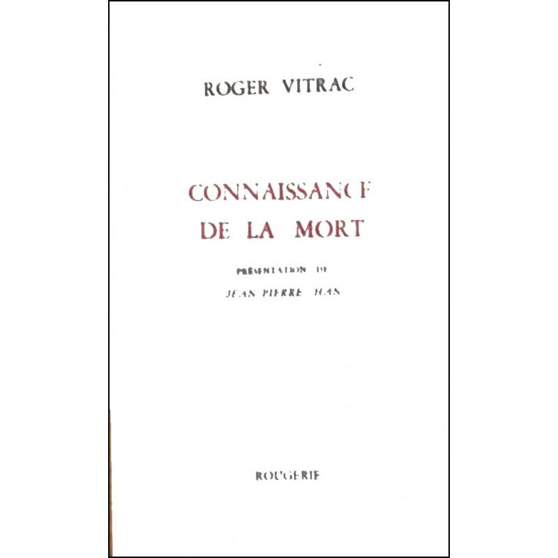 CONNAISSANCE DE LA MORT de ROGER VITRAC Librairie Automobile SPE 9782856682661