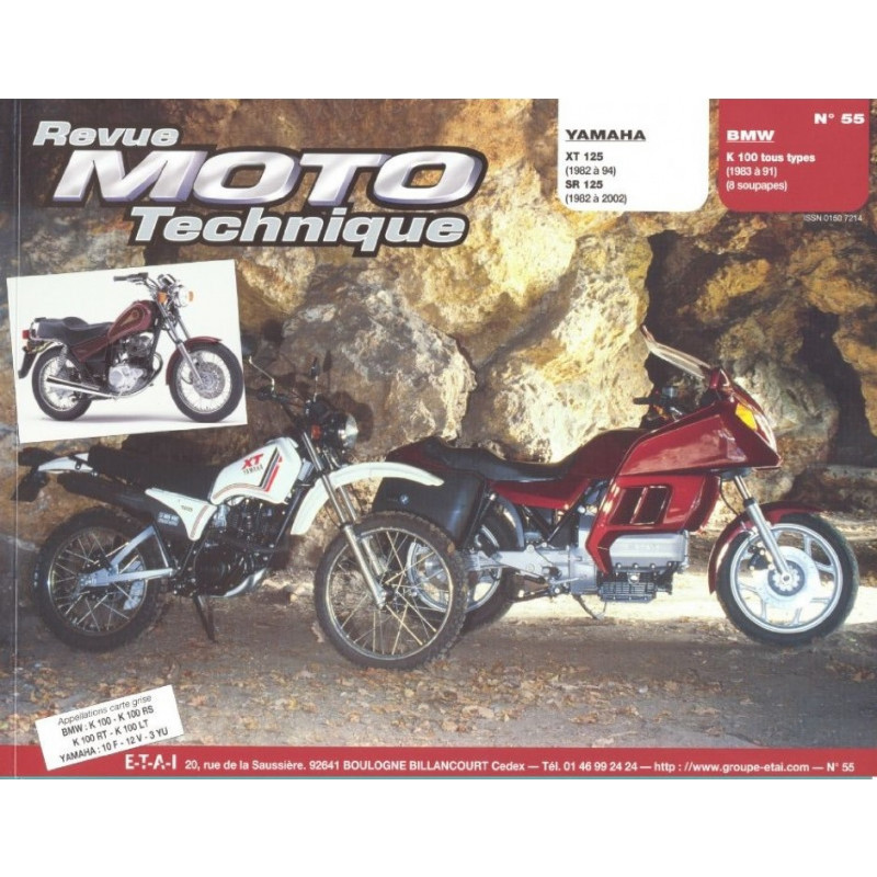 REVUE MOTO TECHNIQUE BMW K100 de 1983 à 1991 - RMT 55 Librairie Automobile SPE 9782726891148