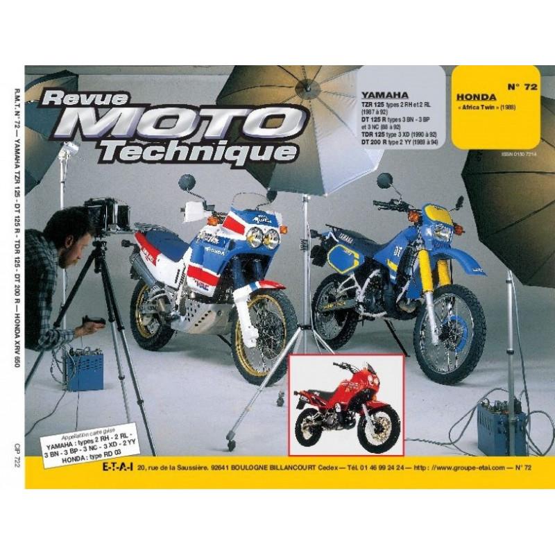 REVUE MOTO TECHNIQUE HONDA AFRICA TWIN de 1988 et 1989 - RMT 72 Librairie Automobile SPE 9782726891179