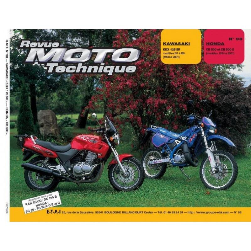 REVUE MOTO TECHNIQUE HONDA CB 500 de 1994 à 2001 - RMT 98 Librairie Automobile SPE 9782726890974