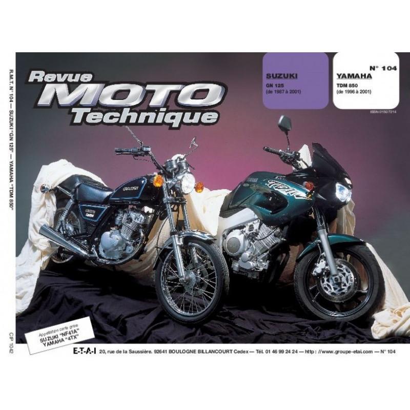 REVUE MOTO TECHNIQUE YAMAHA TDM 850 de 1996 à 2001 - RMT 104 Librairie Automobile SPE 9782726891339
