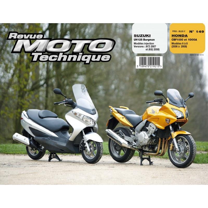 REVUE MOTO TECHNIQUE HONDA CBF 1000 de 2006 à 2008 - RMT 149 Librairie Automobile SPE 9782726892503