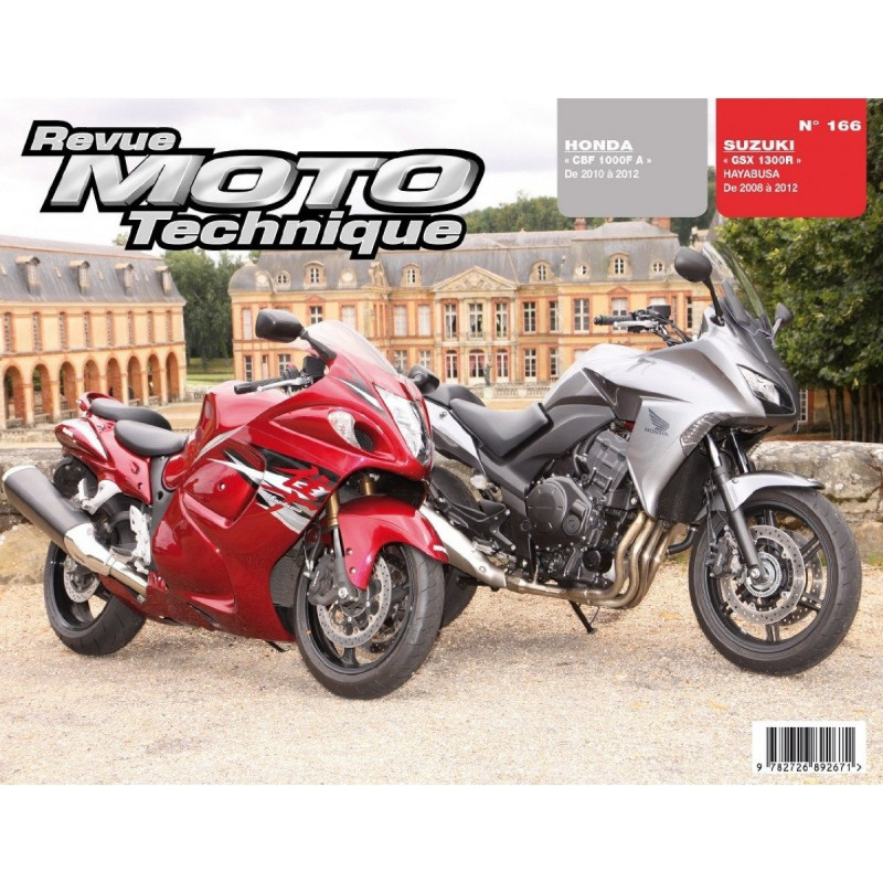 REVUE MOTO TECHNIQUE SUZUKI GSX-R 1300 de 2008 à 2012 - RMT 166 Librairie Automobile SPE 9782726892671