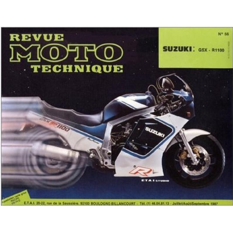 REVUE MOTO TECHNIQUE SUZUKI GSX-R 1100 de 1986 et 1987 - RMT 66 Librairie Automobile SPE 9782726890608