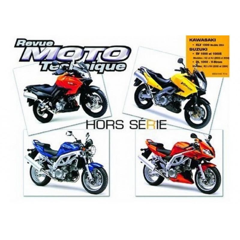 REVUE MOTO TECHNIQUE SUZUKI SV et DL 1000 de 2002 à 2004 - RMT HS13 Librairie Automobile SPE 9782726895122