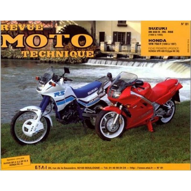 REVUE MOTO TECHNIQUE SUZUKI DR 650 de 1990 à 1995 - RMT 81 Librairie Automobile SPE 9782726891278