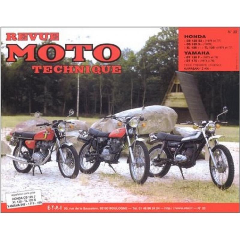 REVUE MOTO TECHNIQUE HONDA CB 125 de 1976 et 1977 - RMT 22 Librairie Automobile SPE 9782726890158