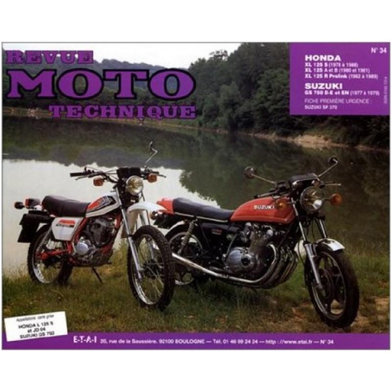 REVUE MOTO TECHNIQUE HONDA XLS 125 PROLINK de 1978 à 1989 - RMT 34 Librairie Automobile SPE 9782726890271