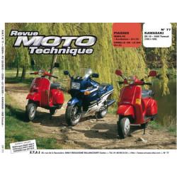 REVUE MOTO TECHNIQUE PIAGGIO VESPA et CORSA 125/200 de 1984 à 1990 - RMT 77 Librairie Automobile SPE 9782726890714