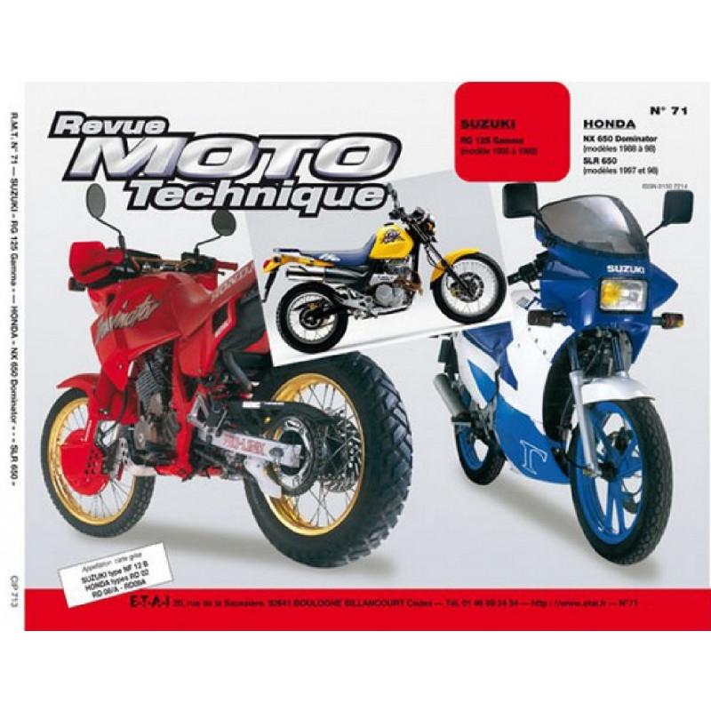 REVUE MOTO TECHNIQUE SUZUKI RG 125 GAMMA de 1985 à 1988 - RMT 71 Librairie Automobile SPE 9782726890905
