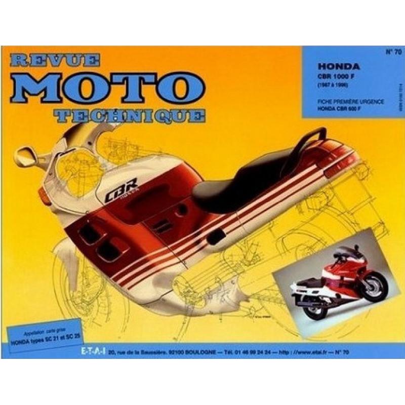 REVUE MOTO TECHNIQUE HONDA CBR 1000 de 1987 à 1996 - RMT 70 Librairie Automobile SPE 9782726891377