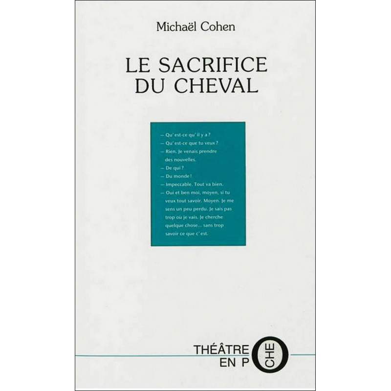 Le sacrifice du cheval De Michaël Cohen Ed. Tertium Librairie Automobile SPE 9782916132624