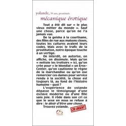 Mécanique érotique de Yolande Ed. Le Grand Souffle Librairie Automobile SPE 9782916492094