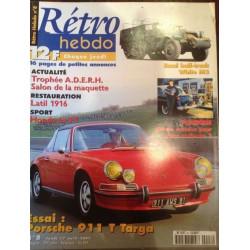 RÉTRO HEBDO PORSCHE 911 T TARGA N°8 Librairie Automobile SPE RETRO HEBDO N°8