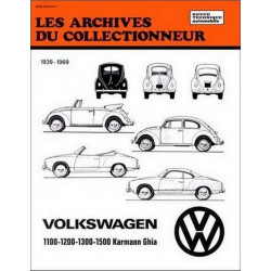 REVUE TECHNIQUE VOLKSWAGEN KARMANN GHIA (1939-1969) ARC20 Librairie Automobile SPE 9782726899274