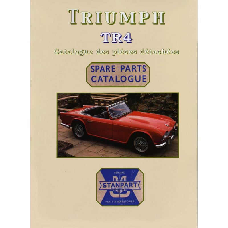 TRIUMPH TR4 CATALOGUE DE PIÈCES Librairie Automobile SPE P107