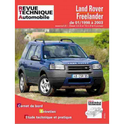 REVUE TECHNIQUE LAND ROVER FREELANDER 1998-2003 - RTA TAP422 Librairie Automobile SPE 3176420511031