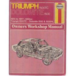 REVUE TECHNIQUE TRIUMPH DOLOMITE 1500 ( 1973 to 1977 ) Librairie Automobile SPE 9780856968419