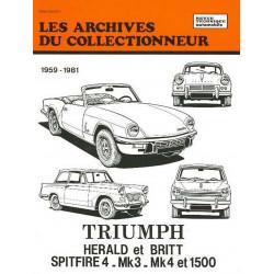 TRIUMPH HERALD ET BRITT-SPITFIRE-MK3-MK4 (59/81) ARC 27 Librairie Automobile SPE 9782726899267