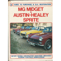 MG MIDGET et AUSTIN-HEALEY SPRITE Guide to purchase and restoration Librairie Automobile SPE Haysne mg midget