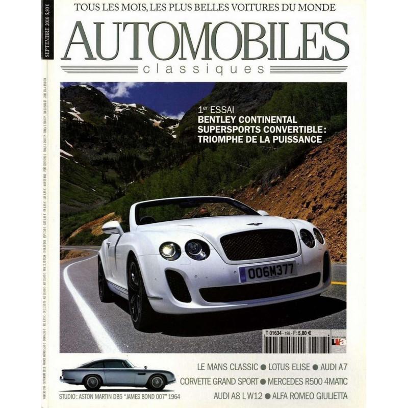 BENTLEY CONTINENTAL AUTOMOBILES CLASSIQUES N°198 Librairie Automobile SPE AC198