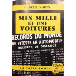 MES MILLE ET UNE VOITURES de Gabriel Voisin